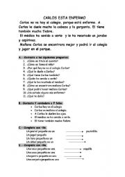 English Worksheets: lectura