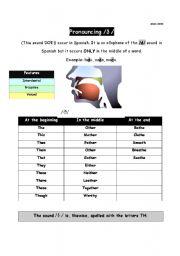 English Worksheets: Pronoucing  /� /