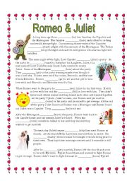 English Worksheet: Reading Shakespeare: Romeo and Juliet