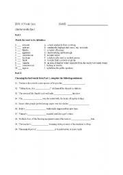 Worksheet Catcher In The Rye Worksheets english worksheets the catcher in rye vocabulary quiz i worksheet i