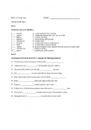 Printables Catcher In The Rye Worksheets english worksheets the catcher in rye vocabulary quiz i worksheet i