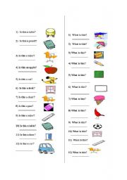What is this/ what are they? - ESL worksheet by ctzsln