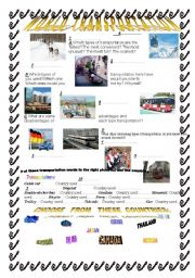 worldtransportations (vocan and grammar/speaking/writing task