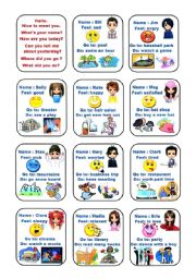 English Worksheets: conversation with simple past(1/2)