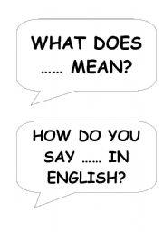 English Worksheets: Speech Bubbles