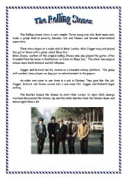 English Worksheets: The Rolling Stones