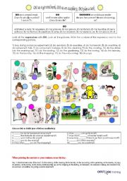 English Worksheets: DO as a general verb, as an auxiliary, with a task