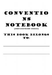 English Worksheets: Conventions Notebook