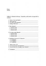 English Worksheets: Character traits