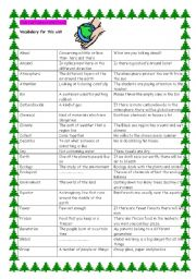 English Worksheet: environment-rainforests
