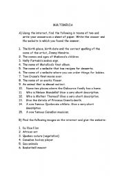 English Worksheets: multimedia