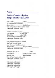 English Worksheet: stand by me song with blanks