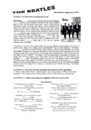 English Worksheets: THE BEATLES STORY AND SONG
