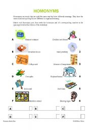 list of homonyms with meanings and sentences pdf