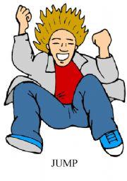 English Worksheets: jump flashcard