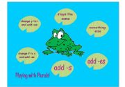 Plurals Pond Game - A game to practice changing singulars to plurals