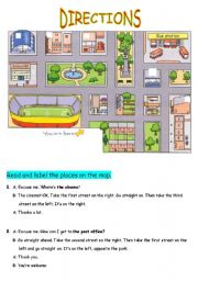 english worksheets directions. Black Bedroom Furniture Sets. Home Design Ideas