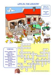 English Worksheet: LIFE IN THE COUNTRY (ON THE FARM) 1/2
