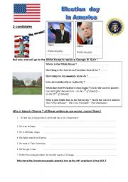 English worksheet: Election Day in America