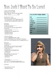 English Worksheets: Bon Jovi song