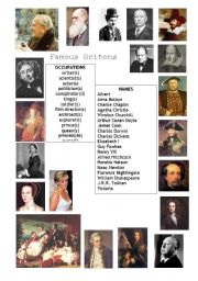 English Worksheets: Famous Britons