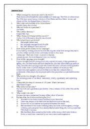 Barack Obama - The speech - part 3 of 3 (answer key)