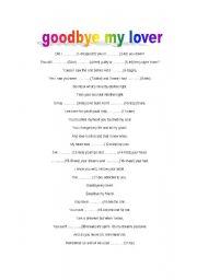 English worksheet: Song : Good bye my love