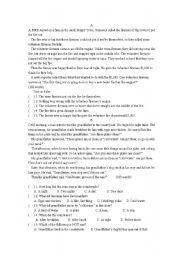 English Worksheets: funny stories  reading comprehension