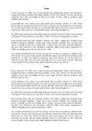 English Worksheets: Lady Diana