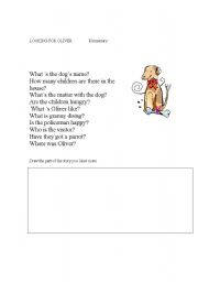 English Worksheets: Looking for Oliver