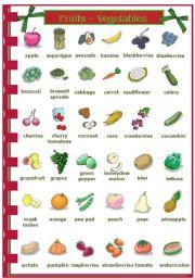 English Worksheet: Fruits / Vegetables