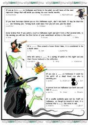 English Worksheet: Superstitions part 2