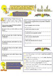 English Worksheet: I WOULD RATHER