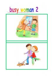 English Worksheets: Busy woman flash-cards part2