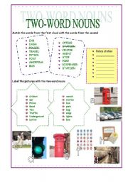 English Worksheets: Two-word Nouns