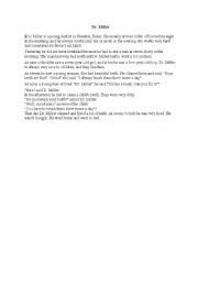 English Worksheets: Dr. Miller with answer key