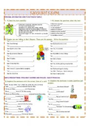English Worksheet: GRAMMAR WORKSHEET