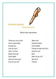 English Worksheets: Match the expressions