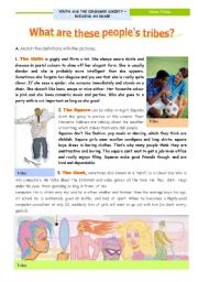 English Worksheets: What are these people�s tribes? - Reading Comprehension