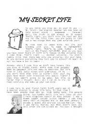 English Worksheets: My Secret Life