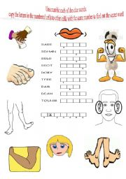 English Worksheets: find out the secret word