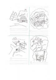 English Worksheet: RUDOLPH MINI BOOK ( PART 1)