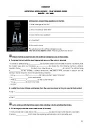 English Worksheets: Artificial Intelligence film viewing guide