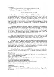 English Worksheet: Reading on present perfect