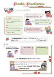 English Worksheet: The Past Perfect Tense: Use and Form + Practice: Past Simple or Past Perfect?  - Inductive Approach