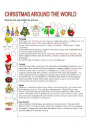 ESL Worksheets for adults: CHRISTMAS AROUND THE WORLD