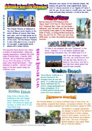 English Worksheet: Introducing Los Angeles