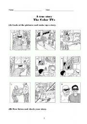 color tvs a true story esl worksheet by asa3000. Black Bedroom Furniture Sets. Home Design Ideas