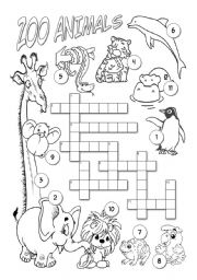 English worksheet: Zoo Animals
