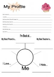 All About Me Profile Esl Worksheet By Miss Something